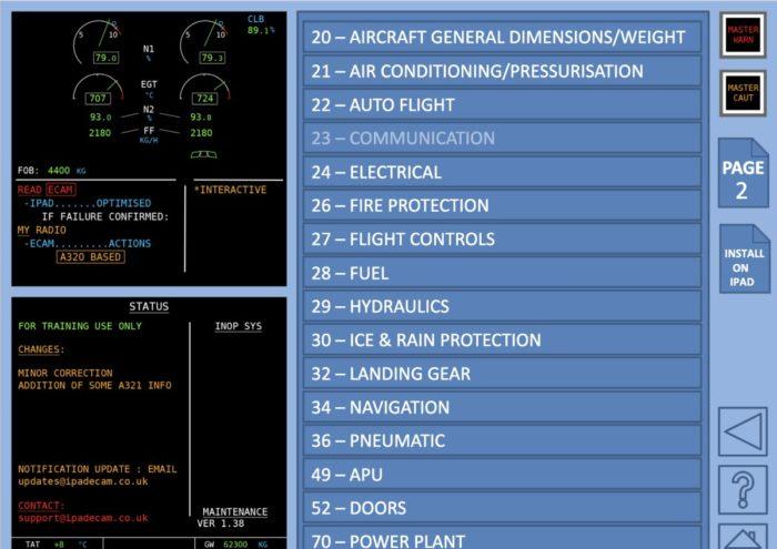 READ ECAM, The free A320 ECAM Handling app